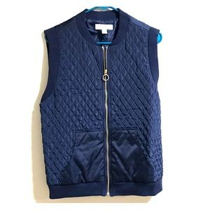 EUC Michael Kors Navy Quilted Down Puffer Vest